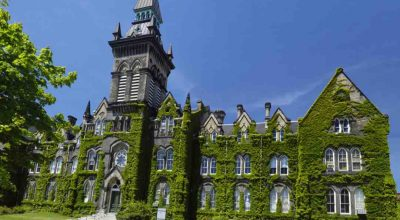 University of Toronto building covered with ivy,Victorian architecture, Toronto, Ontario, Canada